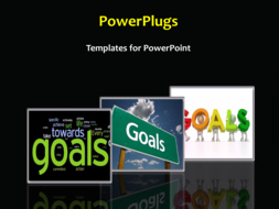 PowerPoint Template - Goals background